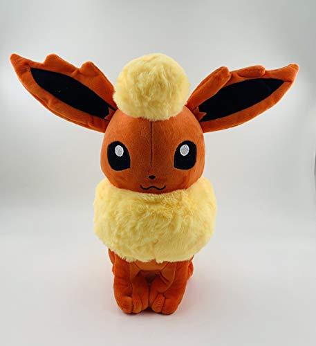 Flareon Plush Toy-Eevee Evolutions Plush Set of 9: Flareon, Eevee, Umbreon, Sylveon, Vaporeon, Jolteon, Leafeon, Espeon, Glaceon, Evolution Plush Toy Stuffed Animals Collection
