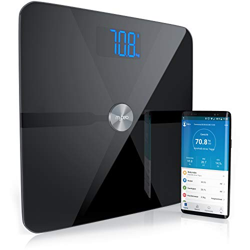 CSL-Computer Bluetooth Körperfettwaage - Digitale Multifunktionswaage - Körperanalysewaage mit App - Badezimmer Körperwaage Personenwaage - für iOS und Android