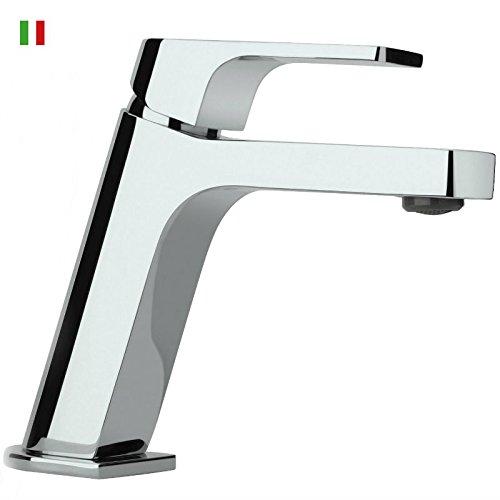 Miscelatore rubinetto per lavabo con piletta scarico Click Clack, Atacama Paini, colore cromo, cod. WW211