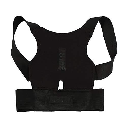 Yosoo Back Support Belt, Comfort Posture Corrector Back Support Brace Adjustable Shoulder Bandage Corset Back Orthopedic Brace Scoliosis Rugbrace Posture Corrector S for Men Women (M)