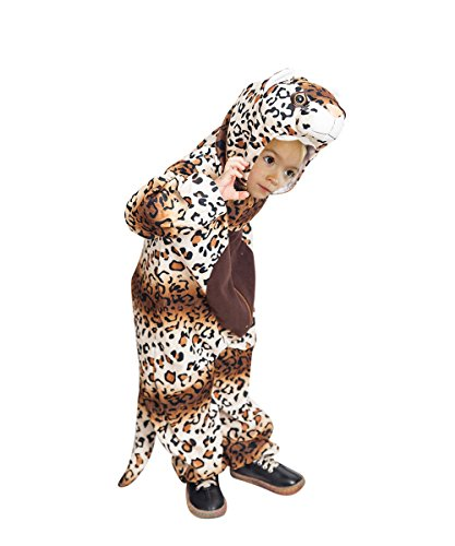 Ikumaal Leoparden-Kostüm, F128 Gr. 104-110 für Kinder, Leoparden-Kostüme für Fasching Karneval, Leopard Klein-Kinder Karnevalskostüme, Kinder-Faschingskostüme, Geburtstags-Geschenk