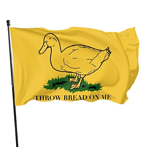 GRHTM Throw Bread On Me Flag Outdoor 3x5 Feet Yard Flags Home Decor Banner Foot Polyester Fade Resistant Flag 3x5 Ft