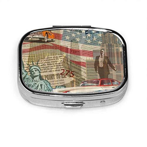 Retro Fashion Sheep Skin News Zeitung Modische Pillenhülle Beste tägliche Pillenhülle Tablet Holder Wallet Organizer Hülle für Tasche oder Geldbörse