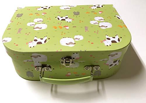 Sass and Belle koffer/kinderkoffer/poppenkoffer/opbergdoos. Kartonnen koffer, 3 verschillende maten. M/Mittel Farmyard Friends