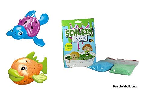 Fun Trading Wasserspaß Set - 2 Leuchttiere für die Badewanne- Schleim Bad - Badespielzeug