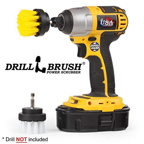 Bad-accessoires - Drill Brush - Reinigingsaccessoires - voegenreiniger - 2 inch ronde spin Brush - Scrub - Badkuip - douchegordijn - badmat - hard water Stain Remover - douchedeur - glasreiniger