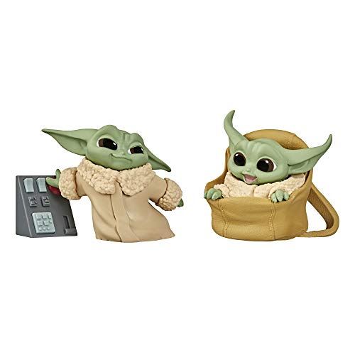 Star Wars The Bounty Collection Series 2 The Child Collectible Toys 2.2-Inch Speeder Ride, Touching Buttons Figure 2-Pack