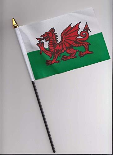 Wales Waliser Drache Flagge 25cm