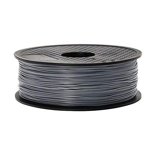 NO LOGO LSB-3D Prints, 1pc PLA Plastique for 3D Printer 1.75mm 1KG Spool Nylon Filament Consommables d'impression Matériaux 3D (Couleur : Argent)