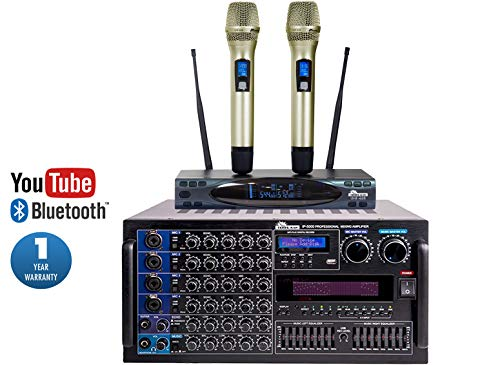 Read About IDOLmain 6000W IP-5000 Mixing Amplifier Plus UHF-628 Dual Wireless Microphone Professiona...