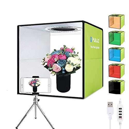 PULUZ - Caja de luz para estudio fotográfico de 11,8 pulgadas / 30 cm para fotografía, kit de carpa de tiro con cabina de fotos...