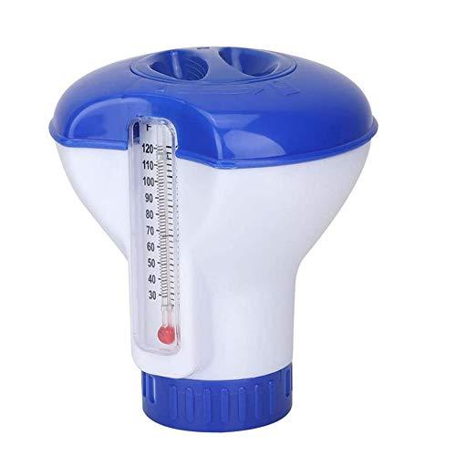 GAMRY - Dispenser di cloro per piscina, con termometro, 5 pollici galleggiante dispenser di cloro per la pulizia di vasche idromassaggio