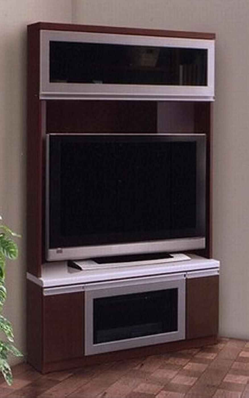 聡明リラックスした事前テレビ台 コーナー 完成品 幅115cm 収納付き ブラウン ナチュラル 木製 モダン風 (ブラウン)