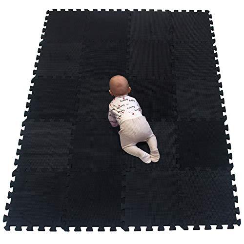 YIMINYUER Colchonetas de Espuma para Yoga Gimnasio - Diferentes tamaños - Diferente Grosor - Estilos Variados Negro R04G301020
