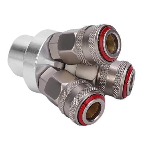 Acoplador rápido de rosca G1 / 4in cromado Componente neumático de alto factor de seguridad para compresores de aire