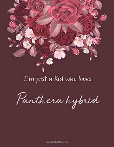 I\'m Just A Kid Who Loves Panthera hybrid Notebook: Cute SketchBook for Drawing, Painting, Writing & Sketching: A perfect 8.5x11 Sketchbook to offer as a Birthday gift for Panthera hybrid Lovers!