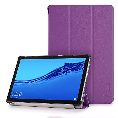 Simpeak Hülle Kompatibel für Huawei Mediapad M5 Lite 10 Zoll, Ultra Dünn mit Standfunktion Schutzhülle Hülle - Lila