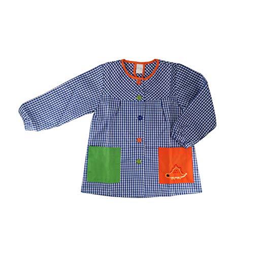 Kiz Kiz Bata Escolar Infantil Multicolor Baby Infantil de Cuadros - (4-5 años, Azul)