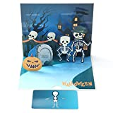 Paper Spiritz 3D Halloween Pop Up Card, Valentine's Day Cards, Skull Scary Spooky Greeting Card, Trick or Treat, Halloween, Scary Spooky Creepy Card