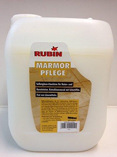Rubin Marmorpflege 5 Liter Selbstglanzemulsion Pflegeprodukt für Marmor und Naturstein