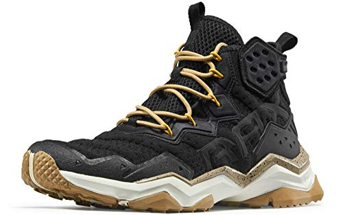 RAX Herren Wolf Outdoor Atmungsaktive Wanderschuhe Camping Rucksackreisen Schuhe Leichte Sneaker, Schwarz (schwarz), 41 EU