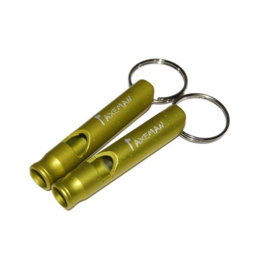 gazechimp 2x aluminio Outdoor Survival Entrenamiento Silbato Whistle Perros Silbato–Verde