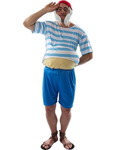 ORION COSTUMES Costume de déguisement de gros pirate pour hommes