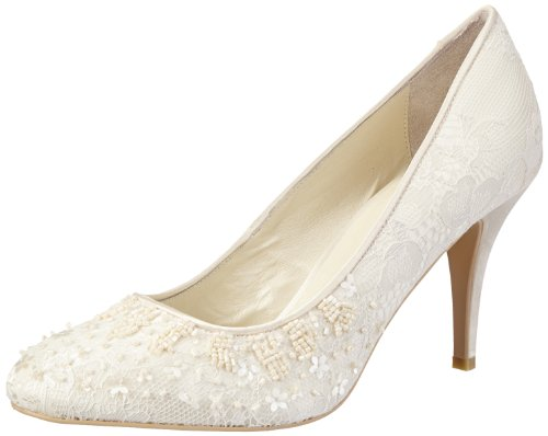 Menbur Wedding Damen Adriana Pumps, Elfenbein (Ivory), 39 EU