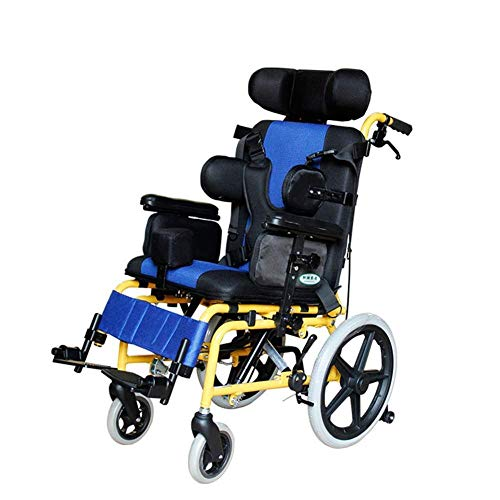 FASFSAF Adjustable Wheelchair Lightweight Driving Medical Ergonomic Half Lying Child Wheelchair Multi-Functional Wheelchair Car for Cerebral Palsy, Kids, Adult