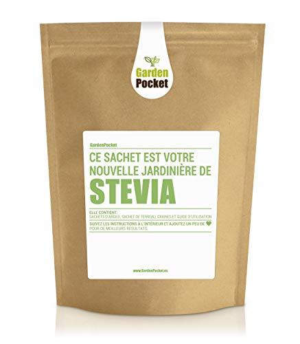 Garden Pocket - Kit de culture d'herbes aromatiques STEVIA - Sac de pot de fleur