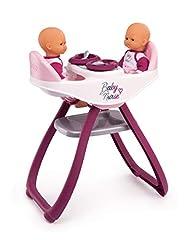 Smoby 220344 Baby Nurse Zwillingspuppen-Hochstuhl