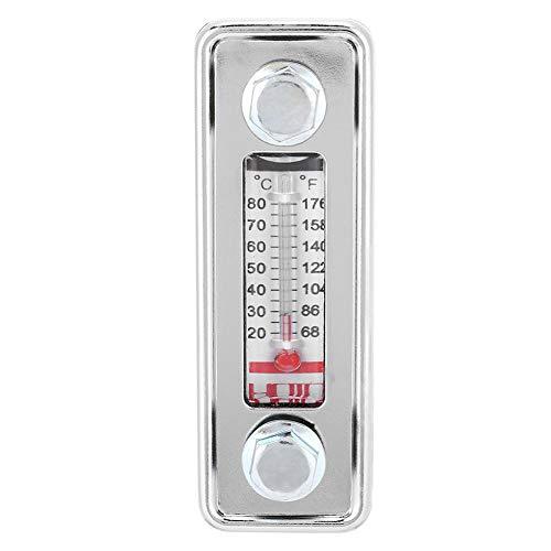 Indicador de nivel de aceite hidráulico con termómetro, máx. 80 C/176 F, indicador de nivel de fluido Indicador de aceite montado con tornillo(LS-3/4.5