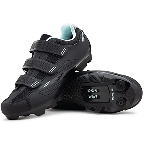Tommaso Terra 100 Women's Mountain Biking, Indoor Cycling, Road Cycling SPD Compatible Shoe - Black/Teal - 41