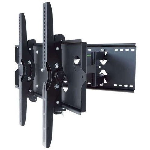 2xhome - Articulating Full Motion Swivel Tv Mount Dual Arm 37 42 45 50 55 60 65 70 80