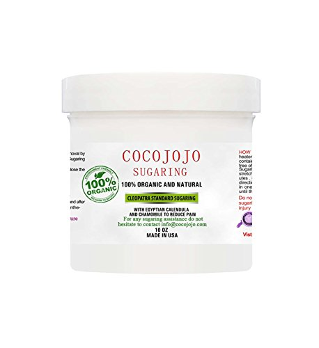 10 Oz Cocojojo Sugaring Hair Removal Sugar Wax 100% Natural Paste - 100% Natural with Egyptian Calendula and Chamomile - Epilation Waxing - Sugaring Hair Remover - Sugaring Gel