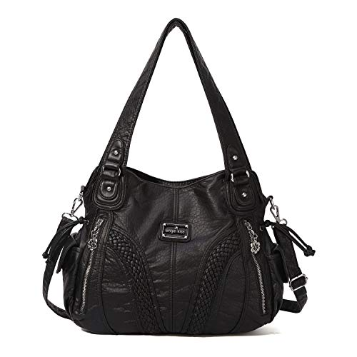 Buckle Satchel Handbag - 9
