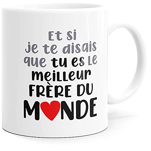 Taza con mensaje divertido. Idea de regalo original impresa en Francia Ami, pareja enamorada, hermana, hermana, pote, cumpleaños, fiesta, Navidad, Dino Mugs Le Sourire desde el despertador.