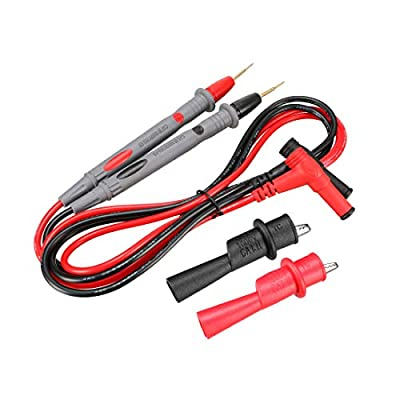 uxcell Multimeter Test Leads, Digital Multimeter Probe Tester Lead Wire Pen Cable with Alligator Clips,1000V 20A, 4-in-1 Set