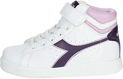Diadora Game P High PS, Chaussures de Gymnastique Mixte Enfant, Multicolore (WHT/Blackberry Cordial/Winsome C7630), 31 EU