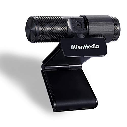 AVerMedia Live Streamer Webcam, Sichtschutzverschluss, FHD 1080p-Videoanruf und -Aufnahme, Plug-and-Play, Zwei Mikrofone, Stream, Game, Klein, Agil, 360-Grad-Schwenkdesign - PW313