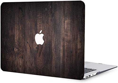 MacBook Pro 13 inch Case 2012 2013 2014 2015 Release A1425 A1502, Black Wood Pattern Plastic Hard Shell Case Compatible with MacBook Pro 13'/13.3' with Retina Display - Black & Brown