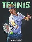 """Tennis Calendar 2022: SPORT Calendar 2022-2023 – 18 months – BIG SIZE 17""""x11"""". Planner for all fans kids boys"""