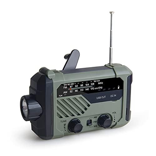 RYSF Radio de Emergencia 2000mAh-Solar Manivela portátil Am/FM/NOAA Radio meteorológica con Linterna y lámpara de Lectura Cargador de teléfono Celular