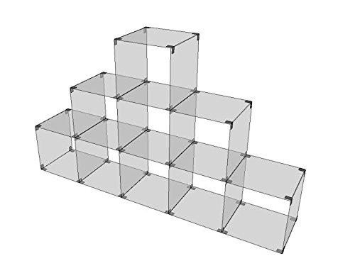 Shop Office Store GmbH Glassteckvitrine Pyramide Vitrine Ladeneinrichtung Präsentation Glas Regal Vitrine Glasregal