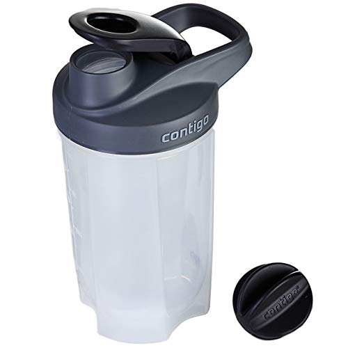 Contigo Shake Go Fit Bouteille Unisex-Adult, Black, 590 ML
