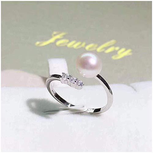 Stijlvolle eenvoud parel ringen minimalistische vers creatief mozaïek zirkoon nieuw vers temperament, MN