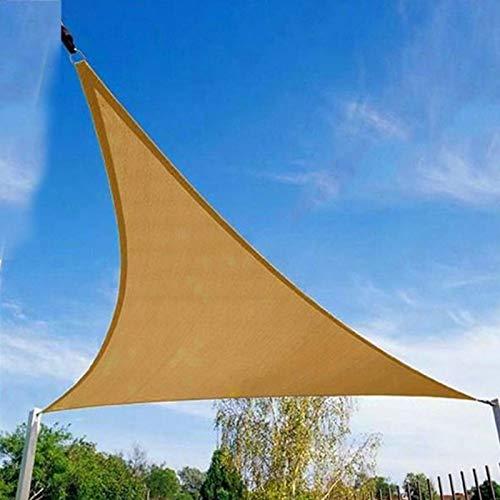 Viccilley Toldo de Vela para el Sol, 3 x 3 x 3 m, Triangular, Resistente al Agua, para jardín y Patio
