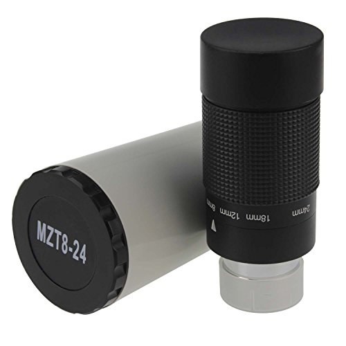 Astromania 1.25' 8-24mm Zoom Eyepiece for Telescope with T-Thread