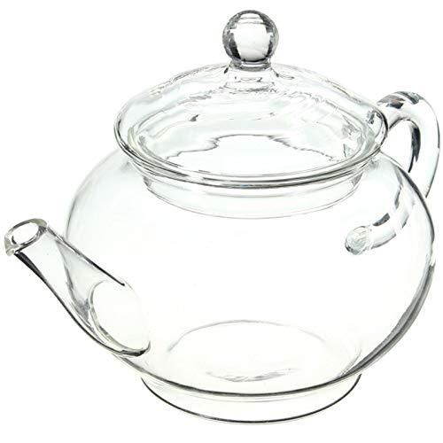 HUIHU Tetera de Vidrio de borosilicato Duradero 200 ml con infusor, Taza de Botella Resistente al Calor para té floreciente, café a Base de Hierbas, predeterminado
