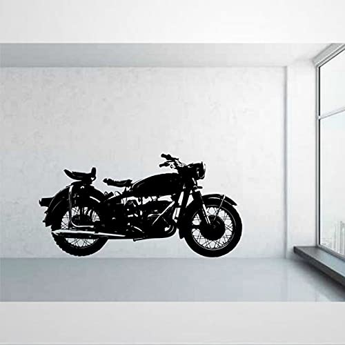 Clásico Vintage Motocicleta Motocicleta Pegatina Pared Pegatinas de Vinilo Extraíbles Pegatinas DIY Arte Decoración de Pared Mural Arte de Pared Decoración del Hogar Bi270